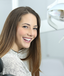 Girl Smiling After Teeth Whitening